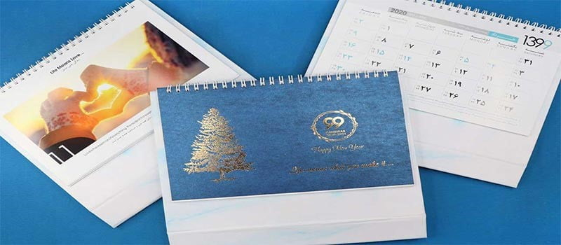 سفارش طراحی و چاپ تقویم رومیزی خاص