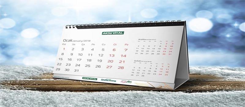 تقویم رومیزی خاص پایه دار